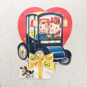 vintage Valentine stop n go